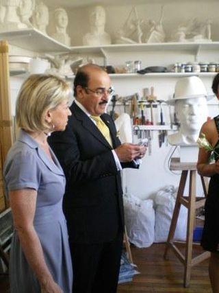Catherine DUMAS et Naser AL BELOOSHI, Ambassadeur du Royaume de Bahreïn